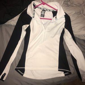 Pink half zip jacket